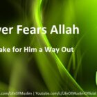 Whoever Fears Allah, He Will Make for Him a Way Out