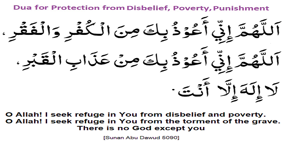 Dua Protection from Disbelief Poverty