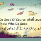 Surely Allah Loves Those Who Do Good