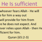 But Sufficient Is Your Lord As A Guide And A Helper