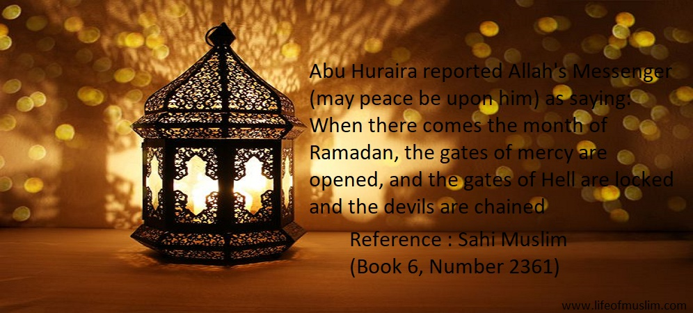 When There Comes The Month Of Ramadan, The Gates of Mercy are Opened