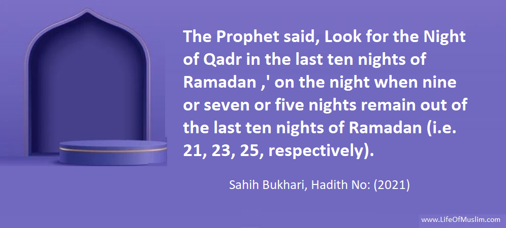 Look For The Night Of Qadr In The Last Ten Nights Of Ramadan