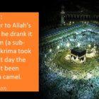 Prophet (ﷺ) Drank Zamzam Water While Standing