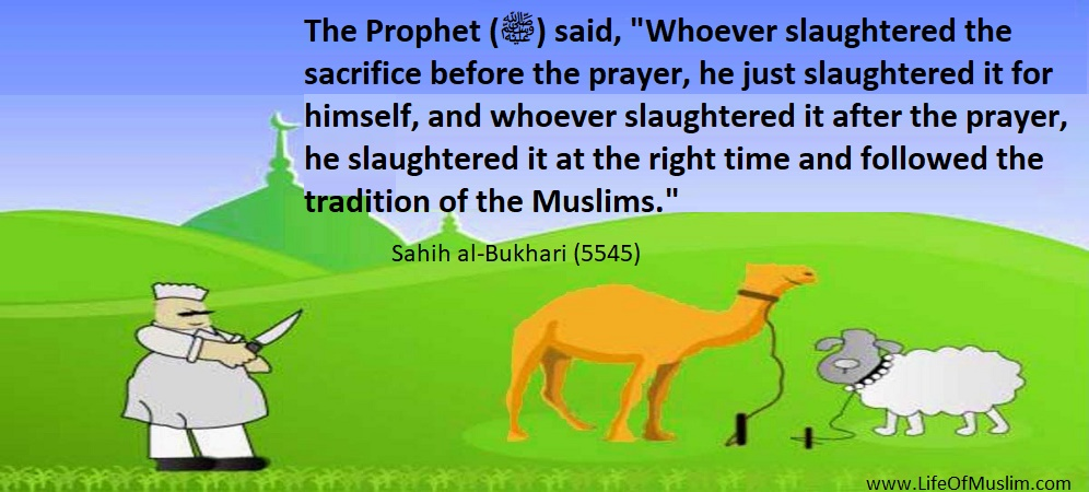 Whoever Slaughtered The Sacrifice Before The Prayer