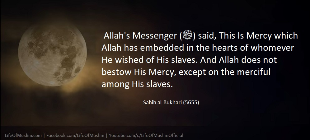 Allah Does Not Bestow His Mercy, Except On The Merciful Among His Slaves