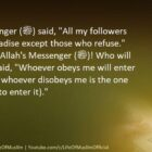 All My Followers Will Enter Paradise Except Those Who Refuse