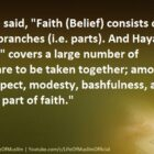 Faith (Belief) Consists Of More Than Sixty Branches