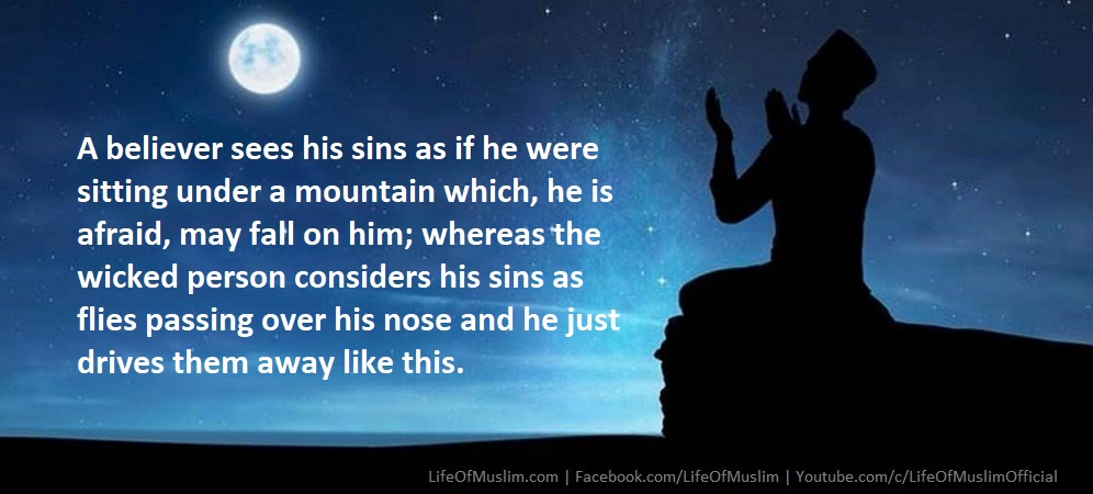 A Believer Sees His Sins As If He Were Sitting Under A Mountain