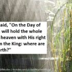 On The Day Of Resurrection Allah Will Hold The Whole Earth